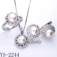 Fabrik Direktverkauf Modeschmuck Perlen Set 925 Silber (YS-2240)
