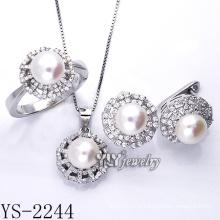 Прямая связь с розничной торговлей фабрики Jewellery перлы способа установила серебр 925 (YS-2240)