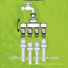 Garden water tap brass manifold