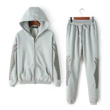 Sportwear OEM más traje de talla, moda bordado Tracksuit, traje de deporte de impresión