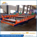 Telha de aço cor dupla Deck Roll dá forma à máquina
