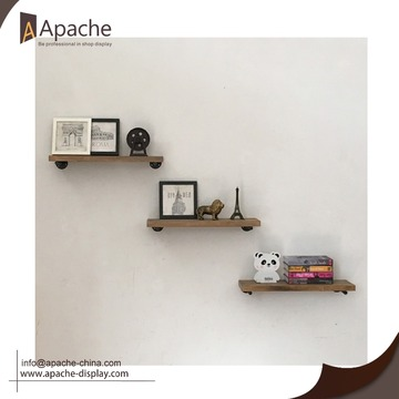Modern style metal shelf brackets for wood shelves