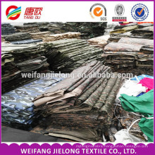 Fully goods in stock camouflage fabric for 2016 wholesale stock cheap camouflage fabric for garment bag,cap