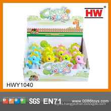 2015 New Promotional Gift Ideas Cartoon Wind Up Animal With Candy Toy