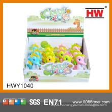 2015 Новые рекламные идеи подарков Cartoon Wind Up Animal With Candy Toy
