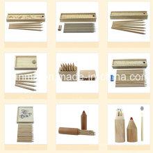 Естественный цвет Деревянный карандаш в деревянной упаковке коробки