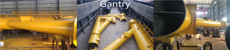 Steel lifting crane gantries