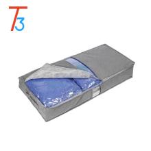 Caja de almacenamiento de tela de bambú para la ropa Quilt clear pvc cremallera bolsa