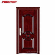 Porte de sécurité en acier laminé TPS-098 avec porte en acier de fantaisie extérieure en papier nid d'abeille