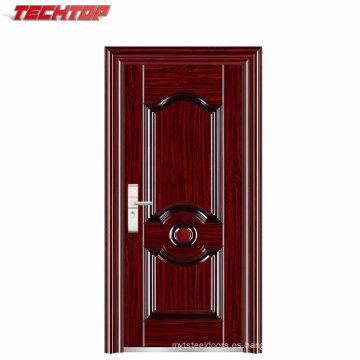 La puerta de seguridad de acero laminado TPS-098 se llena con papel de panal Puerta de acero de lujo