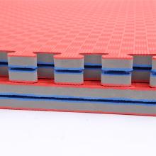 Esteira de Tatami do vermelho azul de EVA da densidade de 3,0cm