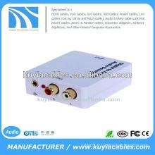Convertisseur de décodeur audio analogique numérique analogique coaxial ou Toslink