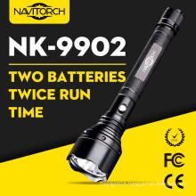 1000m Dual Batteries Long Run Time LED Flashlight Torch Lamp (NK-9902)