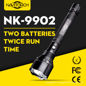 1000m Dual Batteries Long Run Time LED Flashlight Torch Lamp (NK-9902)