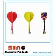 Dardos magnéticos da asa plástica do dardo do jogo do alvo do Bullseye