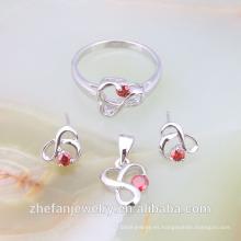 PRECIO DE LA FÁBRICA El último diseño de moda joyería cristalina de la boda simple conjunto joyas rodio plateado es su buena elección