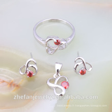 PRIX DE L'USINE dernier à la mode Design mariage cristal simple ensemble de bijoux rhodié bijoux est votre bonne sélection