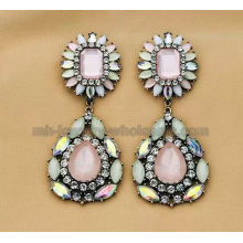 Fashion Zinc Alloy Two Section Acrylic Resin Beads Women Earrings