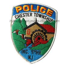Insigne de patch de police Badge personnalisé de broderie d'armée (GZHY-PATCH-010)