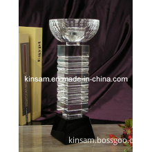 Customized Polished Clear Oscar Glass Award Trophy and Trophy Parts for Office Decoration