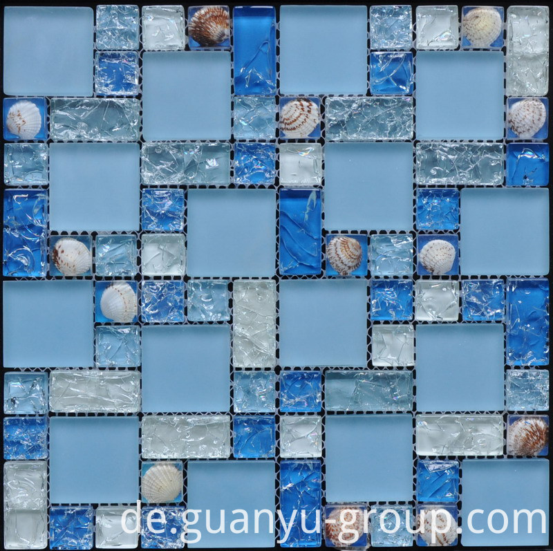 Cracked Glass And Resin Shell Mosaic BL8308