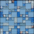 Cracked Glass With Shell Mosaic