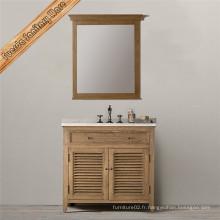 Cabinet de toilette en bois massif avec simple baisn