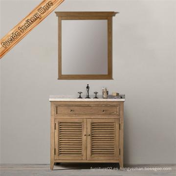 Gabinete de la vanidad del cuarto de baño de madera maciza con el solo Baisn