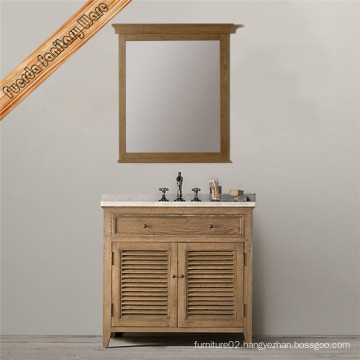 Solid Wood Bathroom Vanity Cabinet with Single Baisn