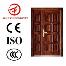 Wooden Color Design Steel Double Door