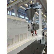 Sistema de composição de borracha para máquina extrusora SJW