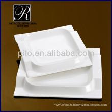 Porcelaine chaozhou P & T, assiettes carrées, assiettes carrées PT2038
