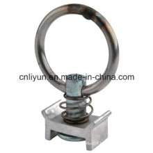 Single Stud Fitting W/Round Ring, Logistic Track Fitting, Metal Hardware Accessories
