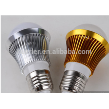 3leds führte Birnen 2 Jahre Garantie 3w Aluminium e26 / b22 / e27 LED Glühbirne