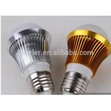 3leds bulbos llevados 2 años de garantía 3w aluminio e26 / b22 / e27 llevó la bombilla