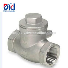 1 Inch Pressure Spring Type Nozzle Wafer Stainless Steel Vertical Swing Threaded Check Valve Steam