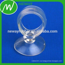 Taza de succión de PVC vacuo transparente transparente con anillo de tracción