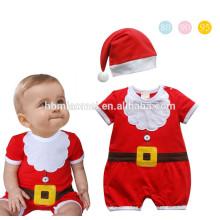2017 oem bebê doce roupas de natal do bebê romper macio algodão macacão de bebê