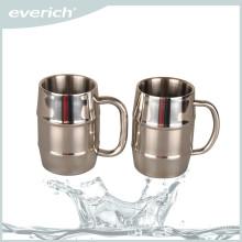 Custom promotional silver mug stainless steel beer cup