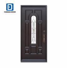 Puertas de acero de cristal negro interior 8 lite