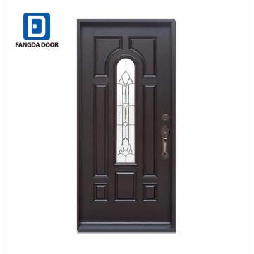 Черный 8 облегченная нутряная стеклянная стальные двери
