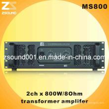 Amplificateur 800W avec alimentation transformateur Ms800