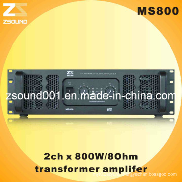 800W Amplifier with Transformer Power Supply Ms800