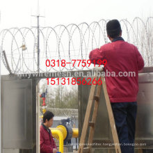 BTO22 razor wire hot dipped galvanized sharp concertina razor wire