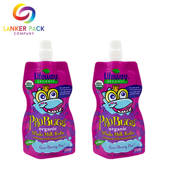 Tái sử dụng Mylar Stand Up Juice Uống Spout Pouch