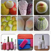 Vendas quentes na rede da luva da espuma plástica de produto comestível do mercado de América para proteger a fruta