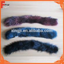 Dyed Color real Raccoon Fur Wholesale fur trim