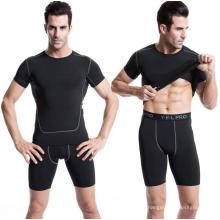 Männer Sport T-Shirt Fitness Bekleidung Activewear Kurzarm
