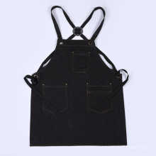 Avental preto e japonês do avental da sarja de Nimes