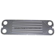 Placa de flujo y placa ciega del intercambiador de calor